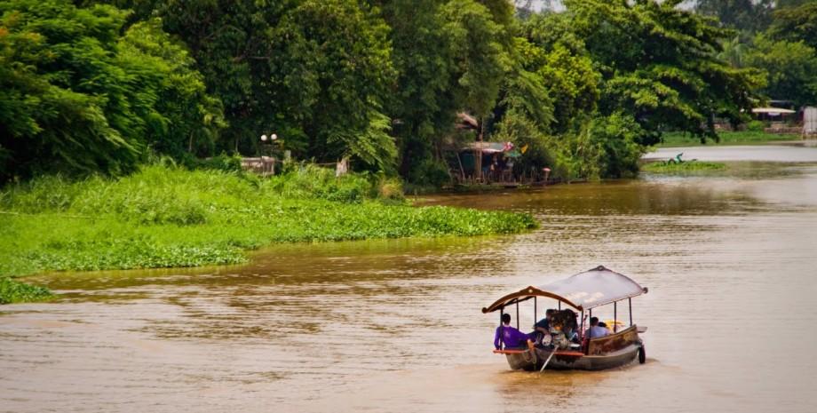 Diner croisière sur le rivière Ping
