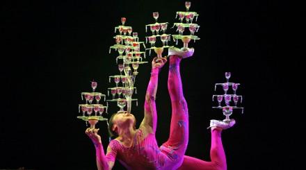 Spectacle d'acrobates à Shanghai