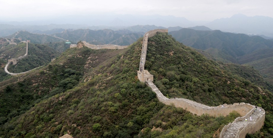 Marche sur la grande muraille de Chine