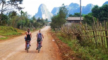 Vang Vieng cycling and caving