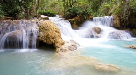 Découverte des chutes d'eau de Kuang Si